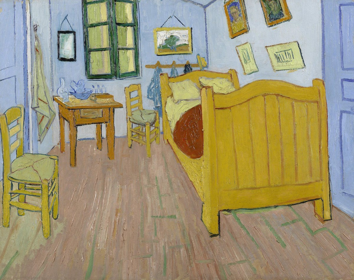 After the hospital, Vincent's life in Arles did not get any easier. His neighbours in Arles organised a petition against him. In April, Vincent realised that he could not risk living alone any more, for now. Learn more vangogh.nl/Q8jk50wqtWf #WorldMentalHealthDay #VincentvanGogh