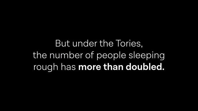 The Conservatives are completely out of touch with the reality of peoples lives. Boris Johnson and his party should ashamed of their record on homelessness. On #WorldHomelessDay, make sure people know about this.