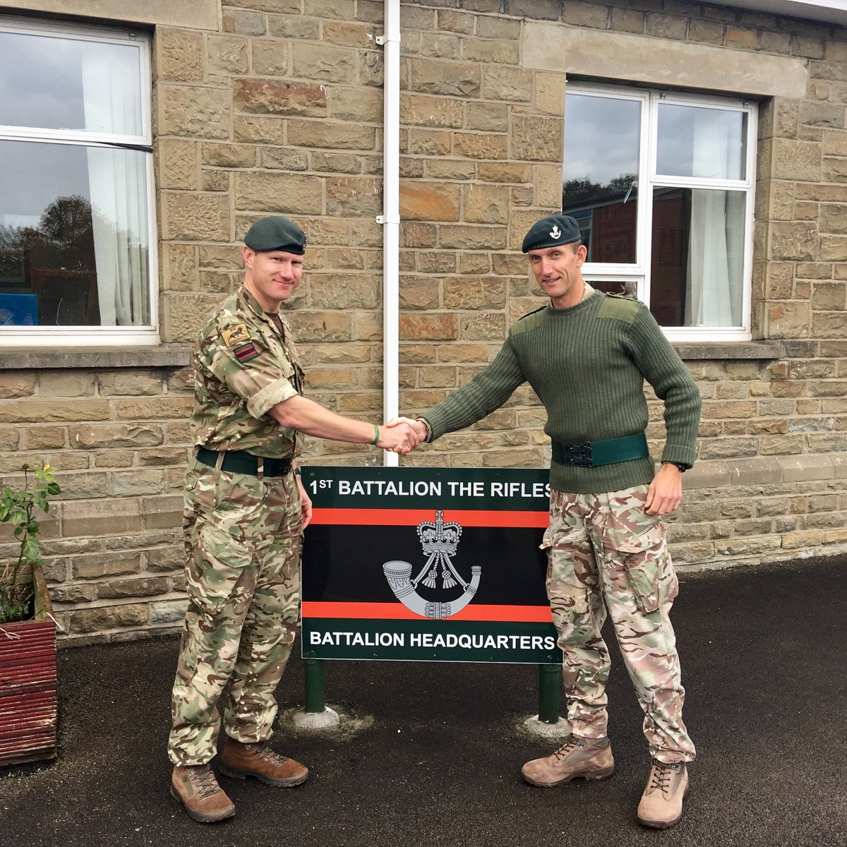 Today I handover to Lt Col Mark Shercliff after 2 years and 7 months as CO of 1 RIFLES. It has been a great honour and privilege to command such an outstanding team of thinking Riflemen. #ChosenMen #SwiftandBold