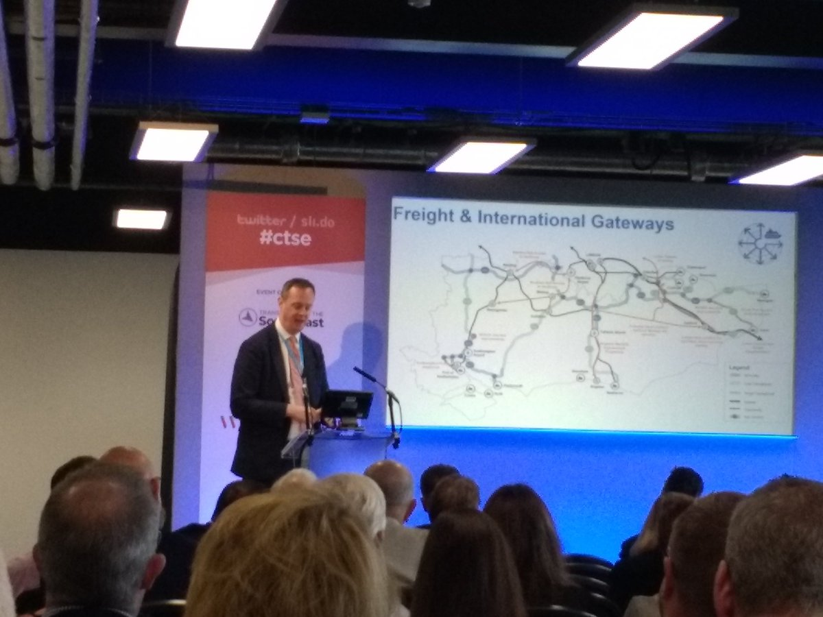 Big emphasis at #ctse event on improving connectivity to Dover within draft SE transport strategy to support SE role in supporting and enhancing productivity of Midlands and North. Also emphasis on better linking of schemes - Lower Thames Crossing & A2 Lydden-Dover dualling key.