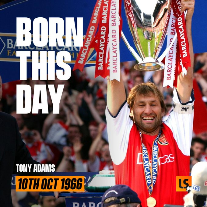 4 x League Titles 5 x Domestic Cups 1 x Statue Happy Birthday to Mr Arsenal, Tony Adams
