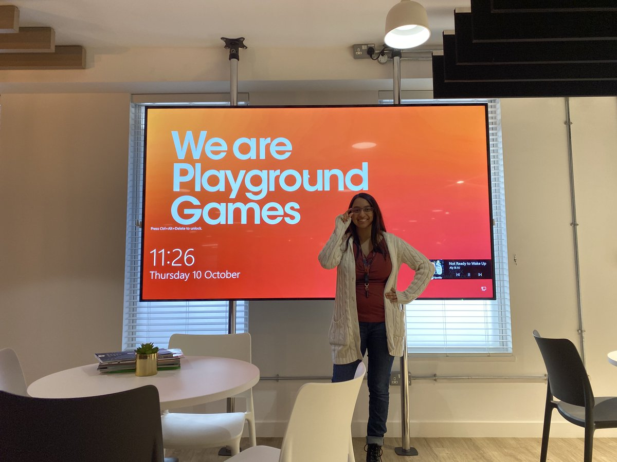 Fantastic to welcome Khevna Shah to the @WeArePlayground family. Khevna joins us as a Technical Designer on our RPG project after previously working with @GirlsWhoCode and @RockstarGames Find out more here - linkedin.com/posts/nickdunc…