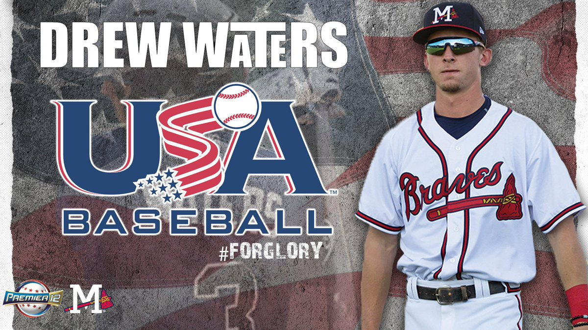 🇺🇸 2019 @SLeagueBaseball MVP @dwaters121 joins fellow top prospects on 2019 Professional National Team: @USABaseball will compete in the #Premier12 tournament beginning November 2. #ForGlory bit.ly/35rn0PA