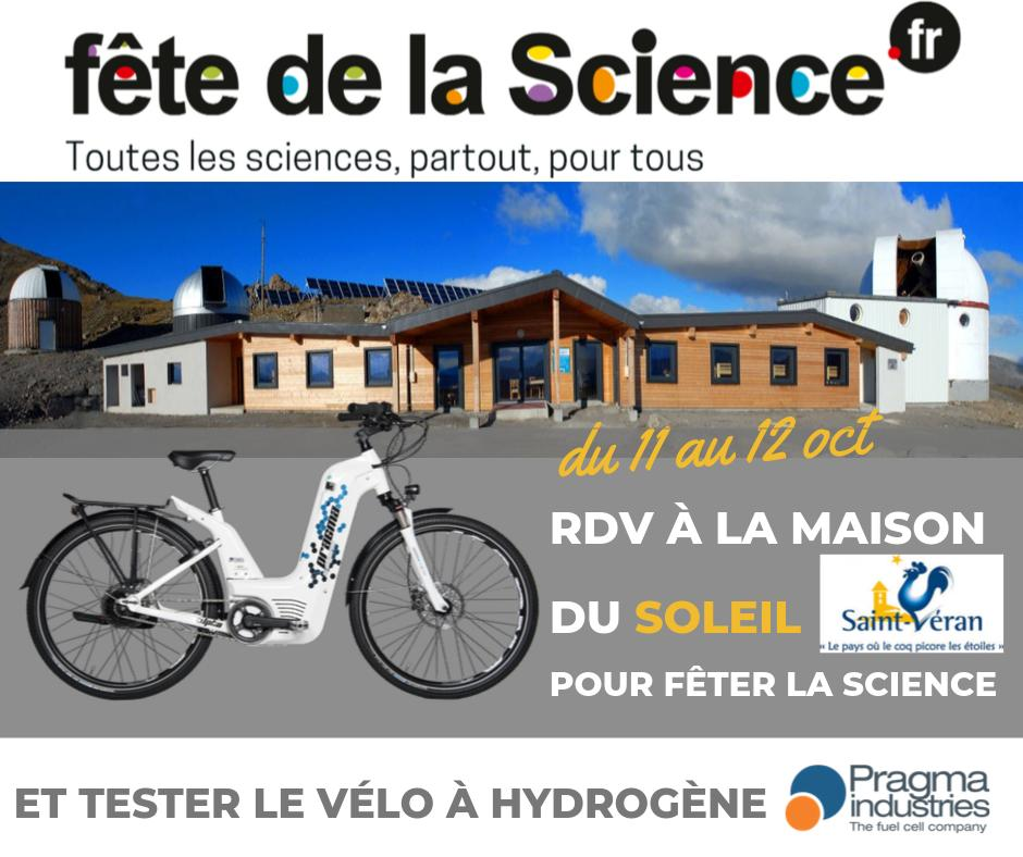 Cette année nous allons célébrer la Fête la #Science Science dans la Maison du🌞à St Véran, commune la + haute d'#Europe qui bénéficie d'un ensoleillement record de 300 jours par an. @PragmaFuelCells  fera tester le #vélo à hydrogène Alpha et parlera énergie H2.  #FDS2019 #H2bike