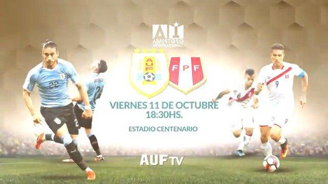 📺🇺🇾👕 Viví el partido @Uruguay - @SeleccionPeru (20 h) de este viernes 11/10 por #AUFTV.  Desde las 18:30 h con la previa vía streaming a través de la señal Vera de ANTEL para todo el mundo:  ➡️ https://auf.org.uy/uruguay-peru-se-podra-ver-por-auf-tv-para-todo-el-mundo/…