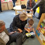 Image for the Tweet beginning: Reading and crafts with grandparents