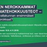 Image for the Tweet beginning: Onko teidän firma vuoden energiatehokkuusnero?