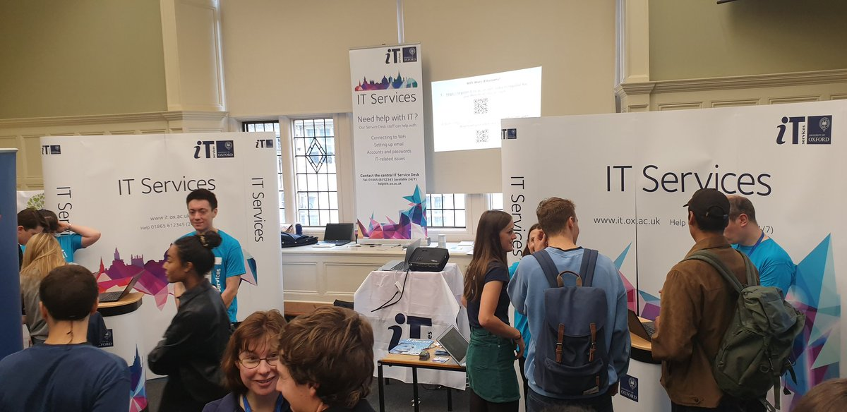 @OxUniStudents we are still here! Get over to the @ox_it #Freshersfair stall for all your IT needs, including those Eduroam woes! We also have a few FREE webcam covers left, get yours now before they are gone!   #WelcometoOxford