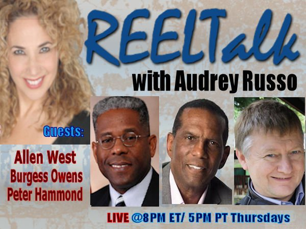REELTalk TONIGHT @ 8PM ET - Super Bowl Champion and author @BurgessOwens, Author LTC @AllenWest and from South Africa, Dr. Peter Hammond audreyrusso.com/live_.htm #MAGA #WalkAway #NBA #ImpeachmentHoax @Seabee_MrP @JudgeMoroz @AppAngry @realDonaldTrump @DonaldJTrumpJr