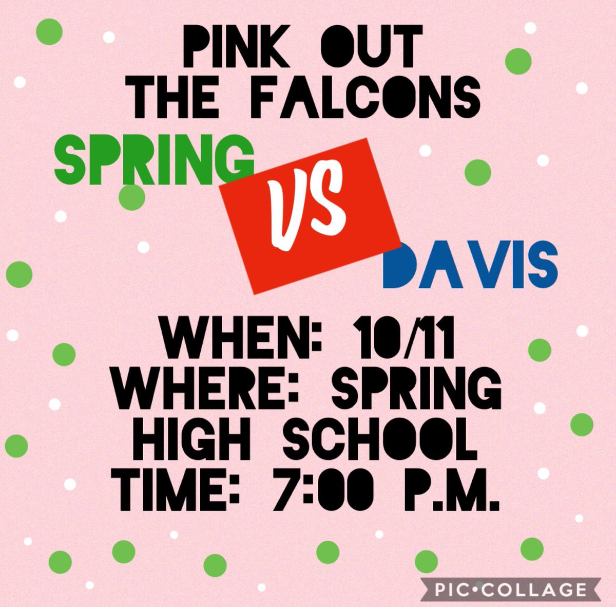 This friday ! To end our breast cancer awareness week we are going to pink out the stands! Let's come out and support the cause and our boys! 🦁💗 @stucolions @SPRINGHIGHLIONS #mbybob #classof2020 #seniorszn #breastcancerawareness https://t.co/5YR1aykTtH