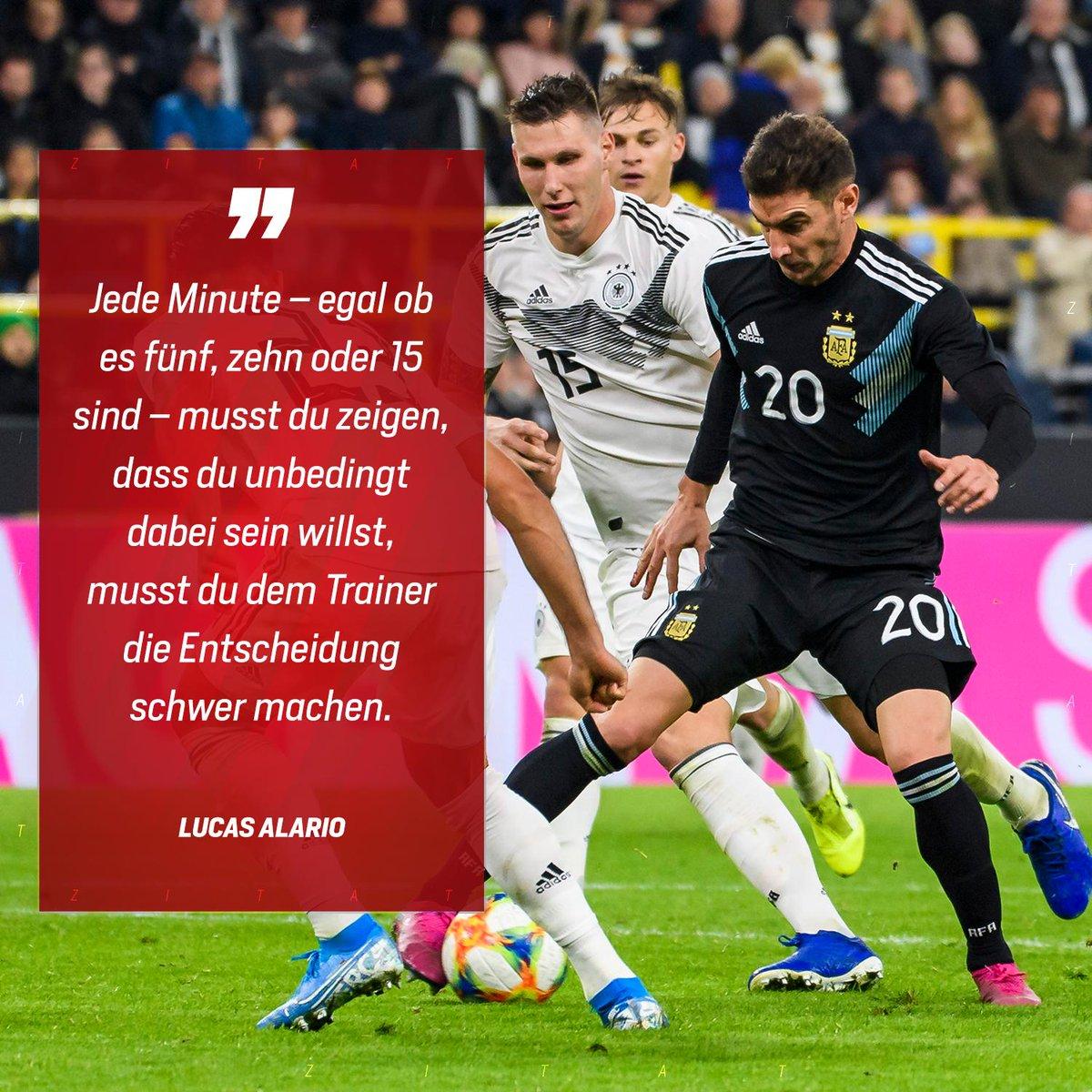 🗯 Für das Nationaltrikot musst du um dein Leben kämpfen. – Lucas #Alario über seine eindrucksvolle Leistung mit einem Tor und einer Vorlage binnen 19 Minuten im Länderspiel #GERARG! #InternationalWerkself