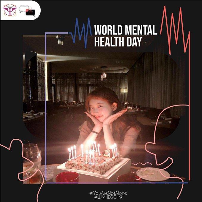 Happy World Mental Health Day >< Happy Bae Suzy\s Birthday