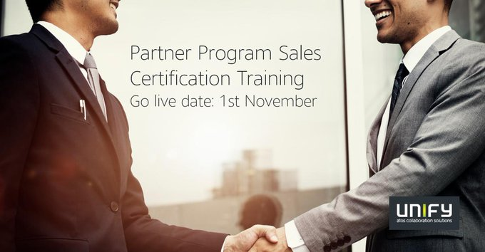 Investing in our Partners! Unify delivers the all NEW Partner Sales Training program from 1st...