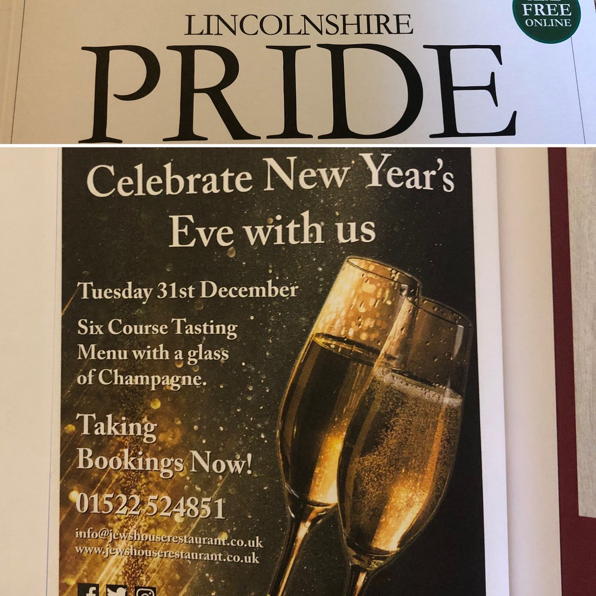 It's now out! #lincolnshirepride - we are now taking New Years Eve bookings #newyearseve #celebrate with us<br>http://pic.twitter.com/w9acoiggci