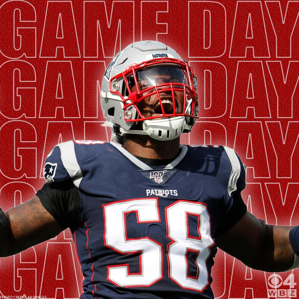 GAME DAY! @Patriots take on the @Giants in Foxboro for Thursday night football. Get ready for all the action on WBZ with Patriots Game Day starting at 7p then tune in after the game for Patriots 5th Quarter. #WBZ #Patriots