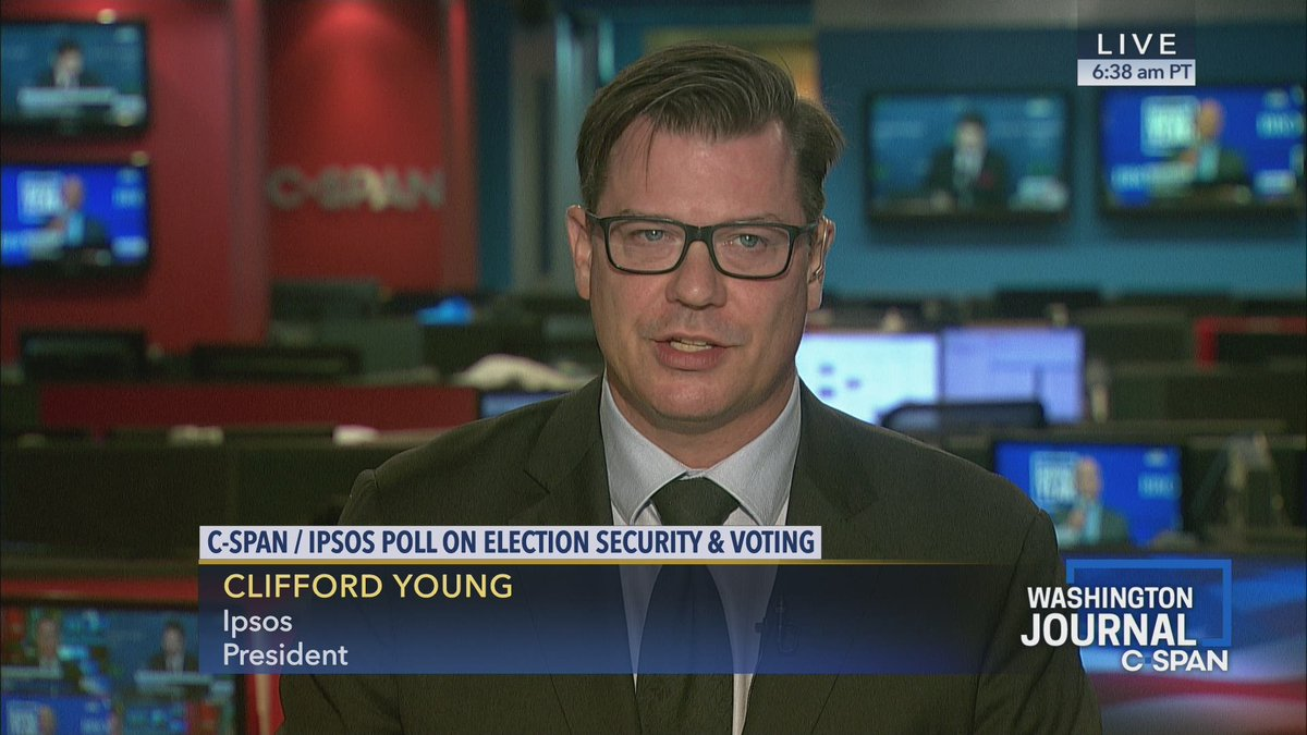 Ipsos' Clifford Young discusses the results of the most recent C-SPAN/Ipsos poll on election security and voting  Watch here: https://cs.pn/2M0YsoK