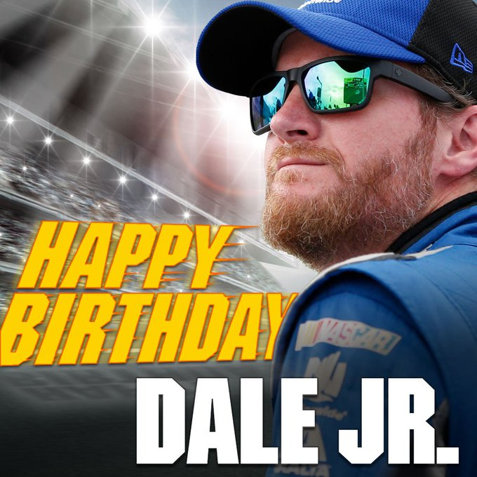 Whether you think of him as Number 8 or Number 88, he turns 45 today. Happy birthday, Dale Earnhardt Jr.!