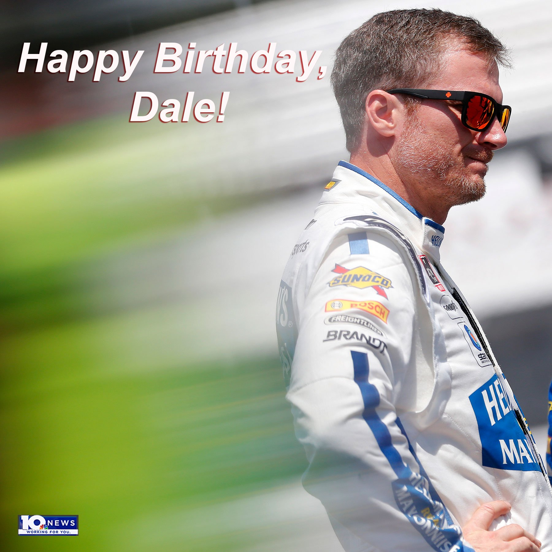 A happy 45th birthday to semi-retired NASCAR driver Dale Earnhardt Jr.!