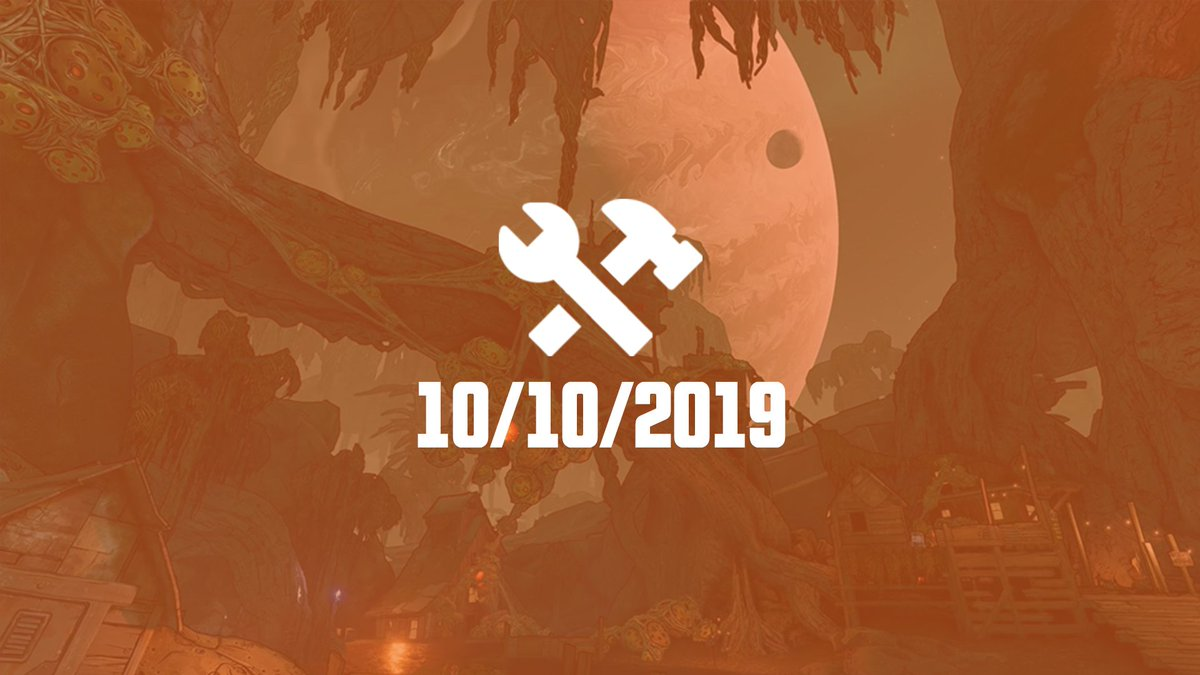 This week's #Borderlands3 hotfixes, which will be live on all platforms by or before 3:00 PM PT today, address some player character passive abilities, gear balance, and some quality-of-life issues across the game.  Read the notes:  http:// 2kgam.es/BL3_1010    <br>http://pic.twitter.com/MZF5YVRCNb
