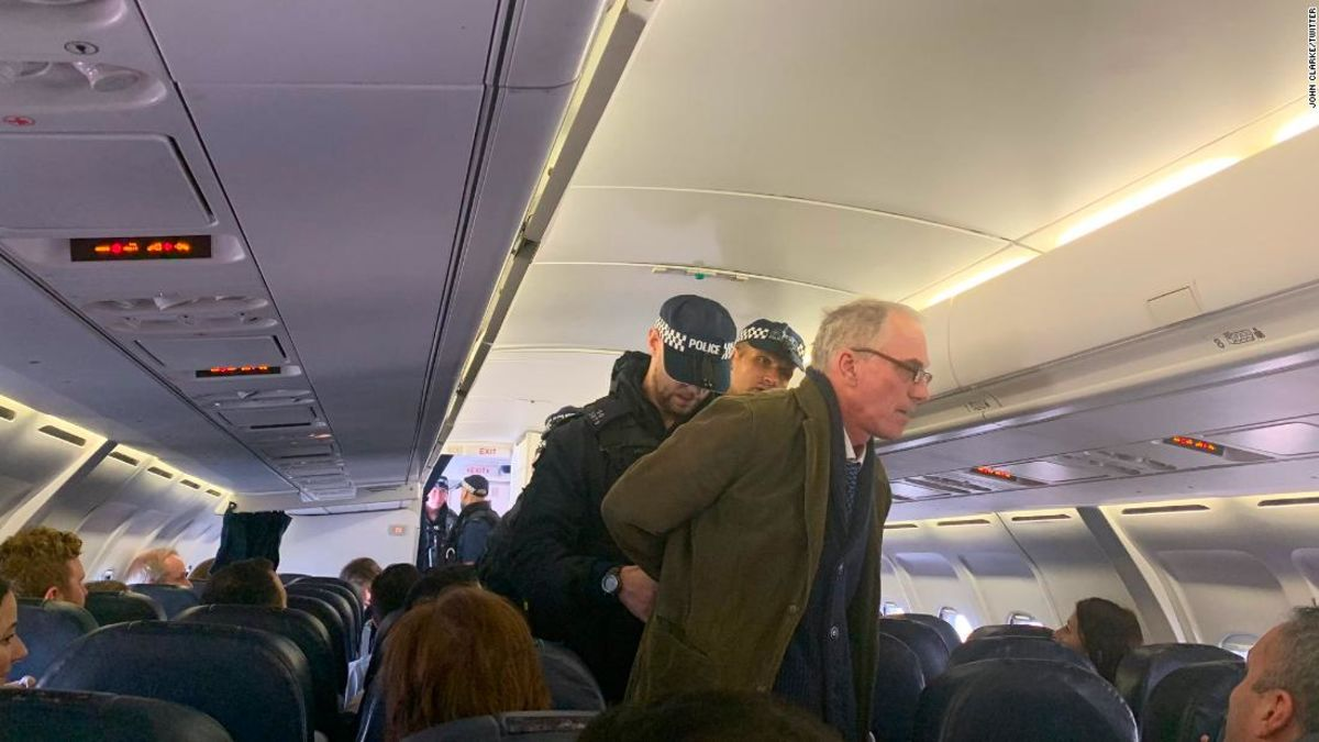 We have two generations of human civilization left if we carry on doing what were doing.  Climate protester delays flight at London airport by giving lecture in aisle  https://cnn.it/35qCnrd