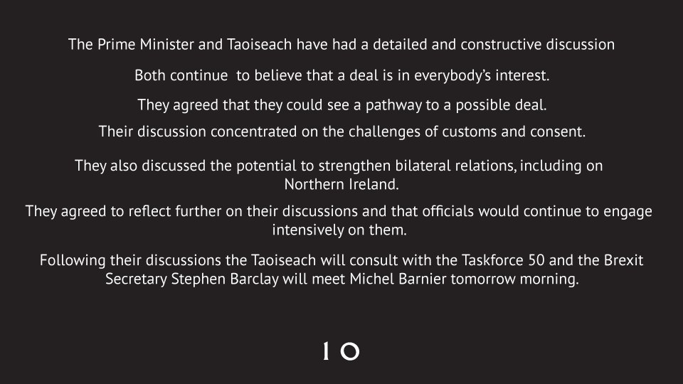 PM @BorisJohnson's joint statement with Taoiseach Varadkar.
