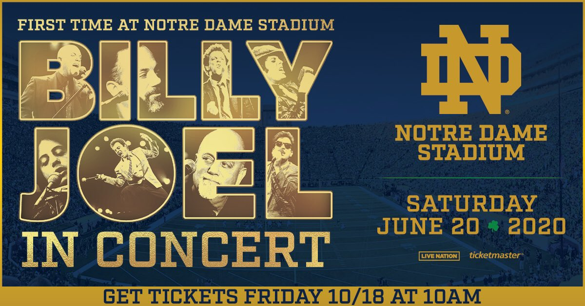Billy Joel to play Notre Dame Stadium in 2020: go.nd.edu/BillyJoelConce…