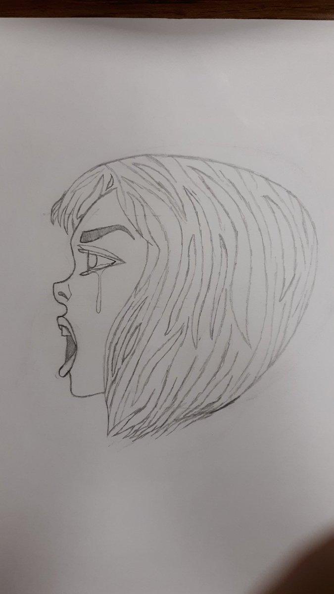 He's a little sketch I'm doing in art class