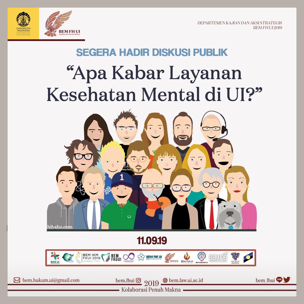 Bem Fh Ui 2020 On Twitter Apa Kabar Layanan Kesehatan Mental Di Ui Selamat Hari Kesehatan Mental Sedunia Bertepatan Dengan Hari Kesehatan Mental Sedunia Aliansi Isu Kesehatan Mental Akan Mengadakan Diskusi Publik