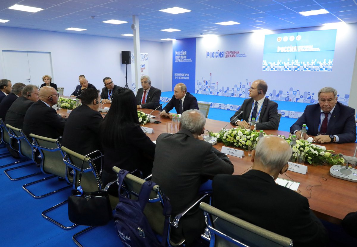 Meeting with heads of international sports organisations bit.ly/2IFUnEj