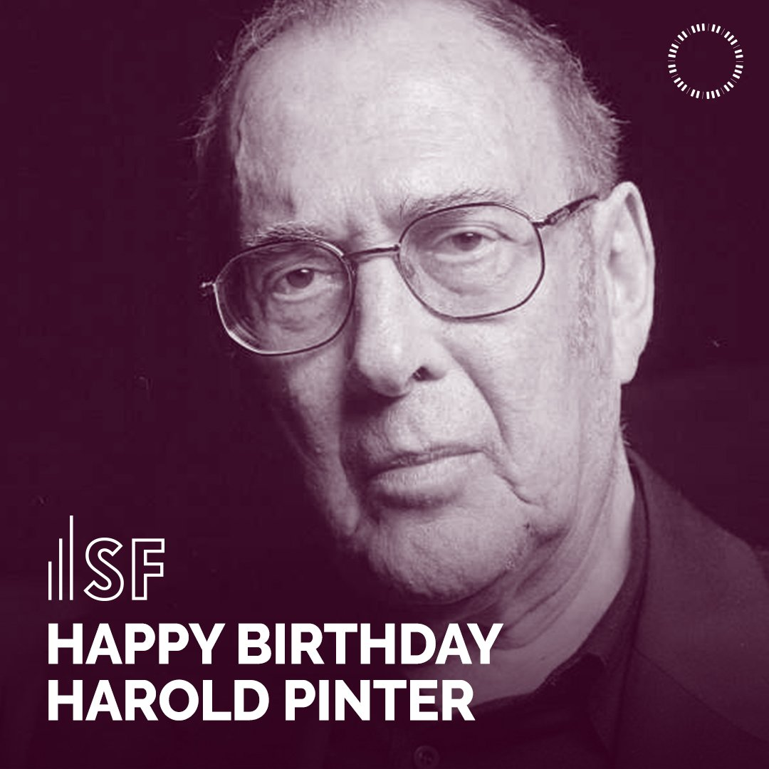 Today is a Celebration for Harold Pinter! From classic comedies like Celebration to full-length dramas like Landscape and Silence, his work continues to influence us today. Happy birthday, Harold! Read more of Pinters work at samfren.ch/HaroldPinter.