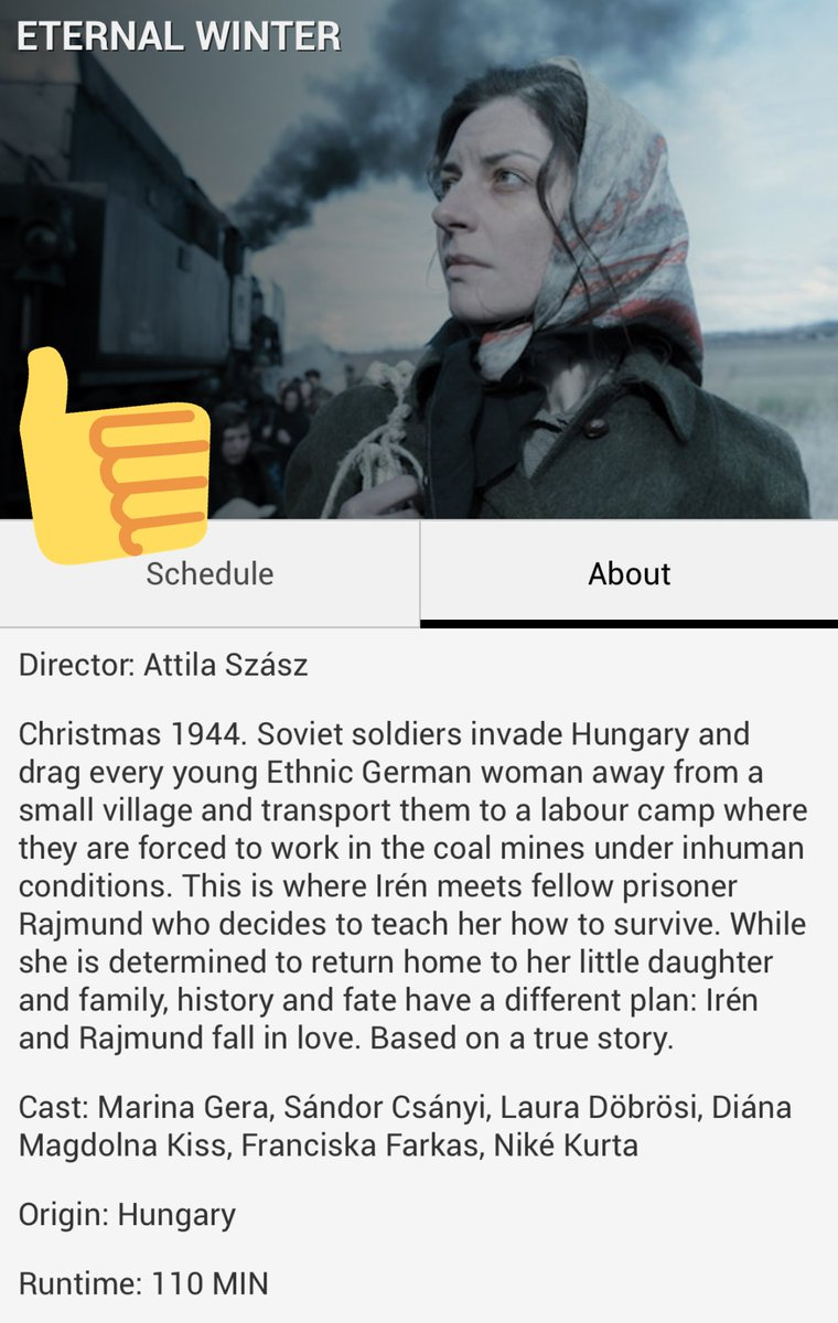 Eternal Winter (Örök tél) Beautiful Hungarian Film @nashfilmfest Airs again tomorrow at 3pm Regal Hollywood 27 #eternalwinter #truestory #hungary #magyarorszag #nashville #letsgotothemovies #nashfilm50 🇭🇺