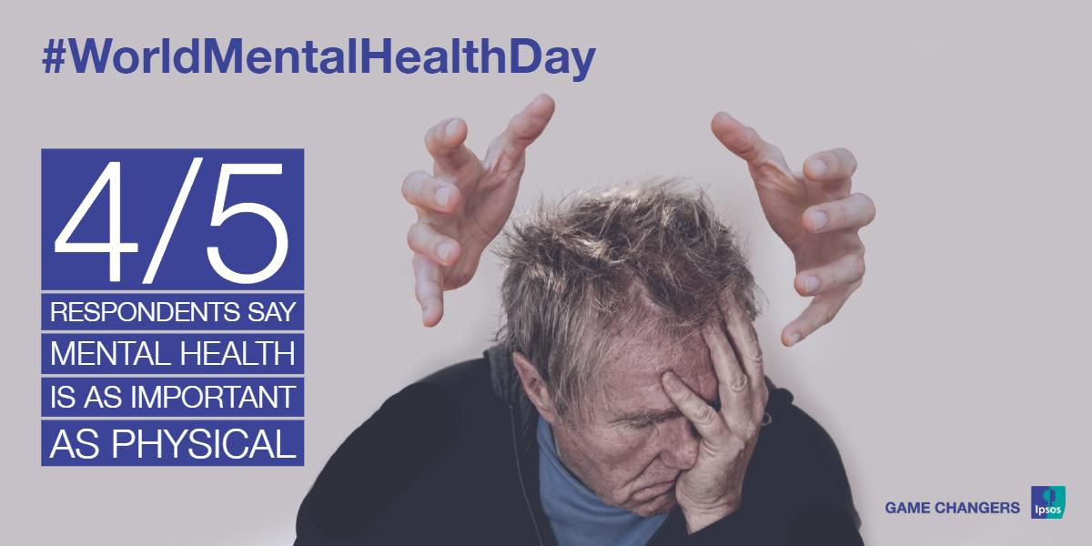 It's #WorldMentalHealthDay today! Discover @IpsosMORI new international research with the Policy Institute @KingsCollegeLon that reveals attitudes towards #MentalHealth around the world. Get more details here 👉 bit.ly/2olnKVI #Ipsos #mrx #healthcare
