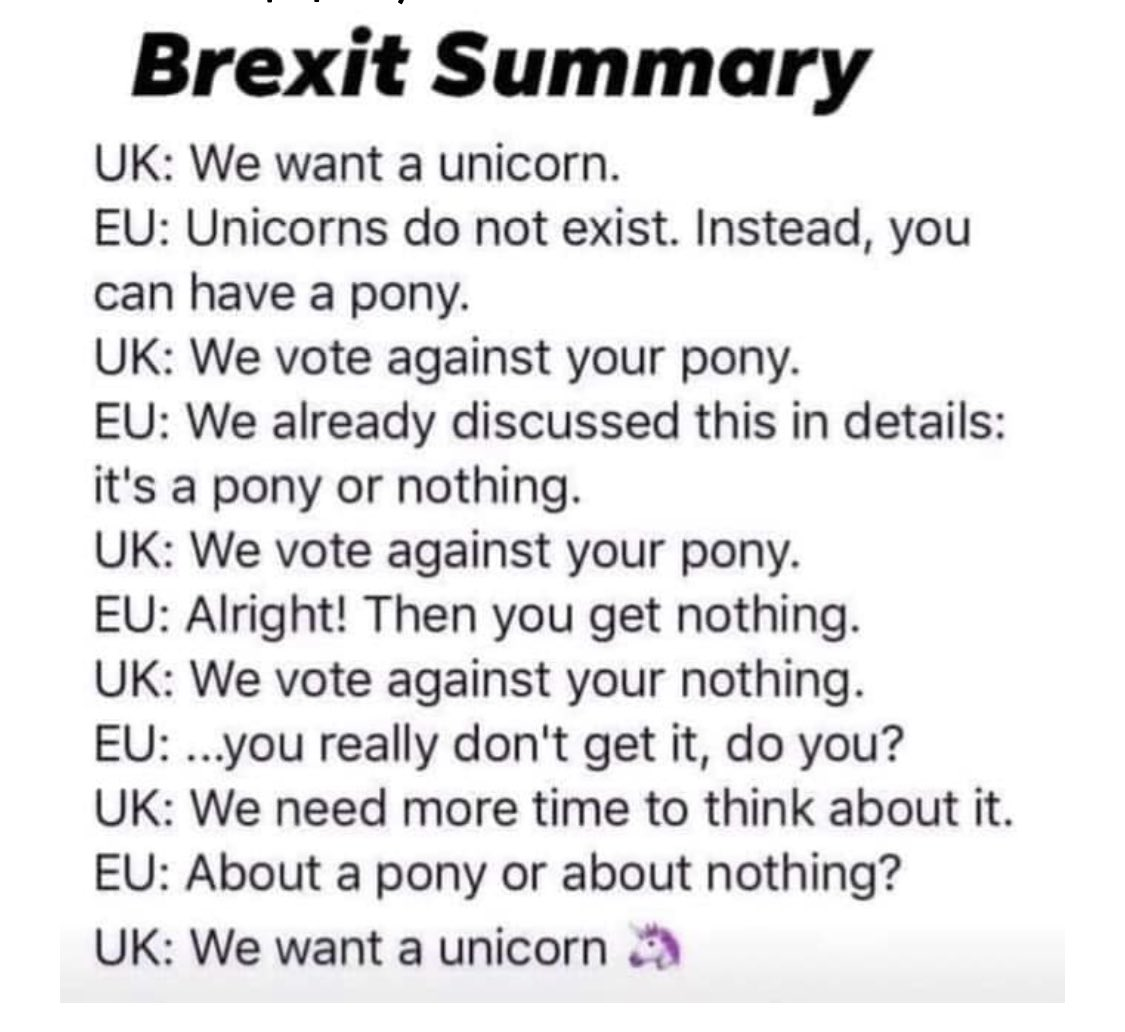 Brexit Summary for those that stopped following the soap: