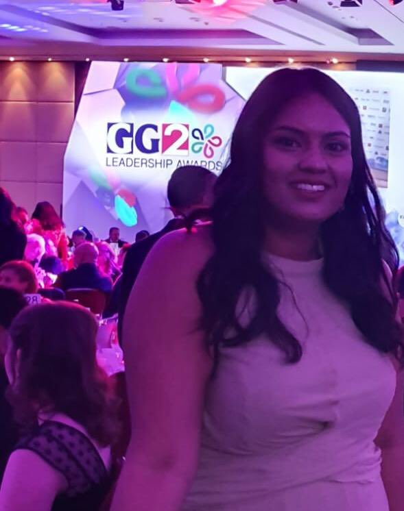 Here at the @GG2Diversity #GG2Awards cheering on our @AliSulaiha! twitter.com/DLPublicLaw/st…