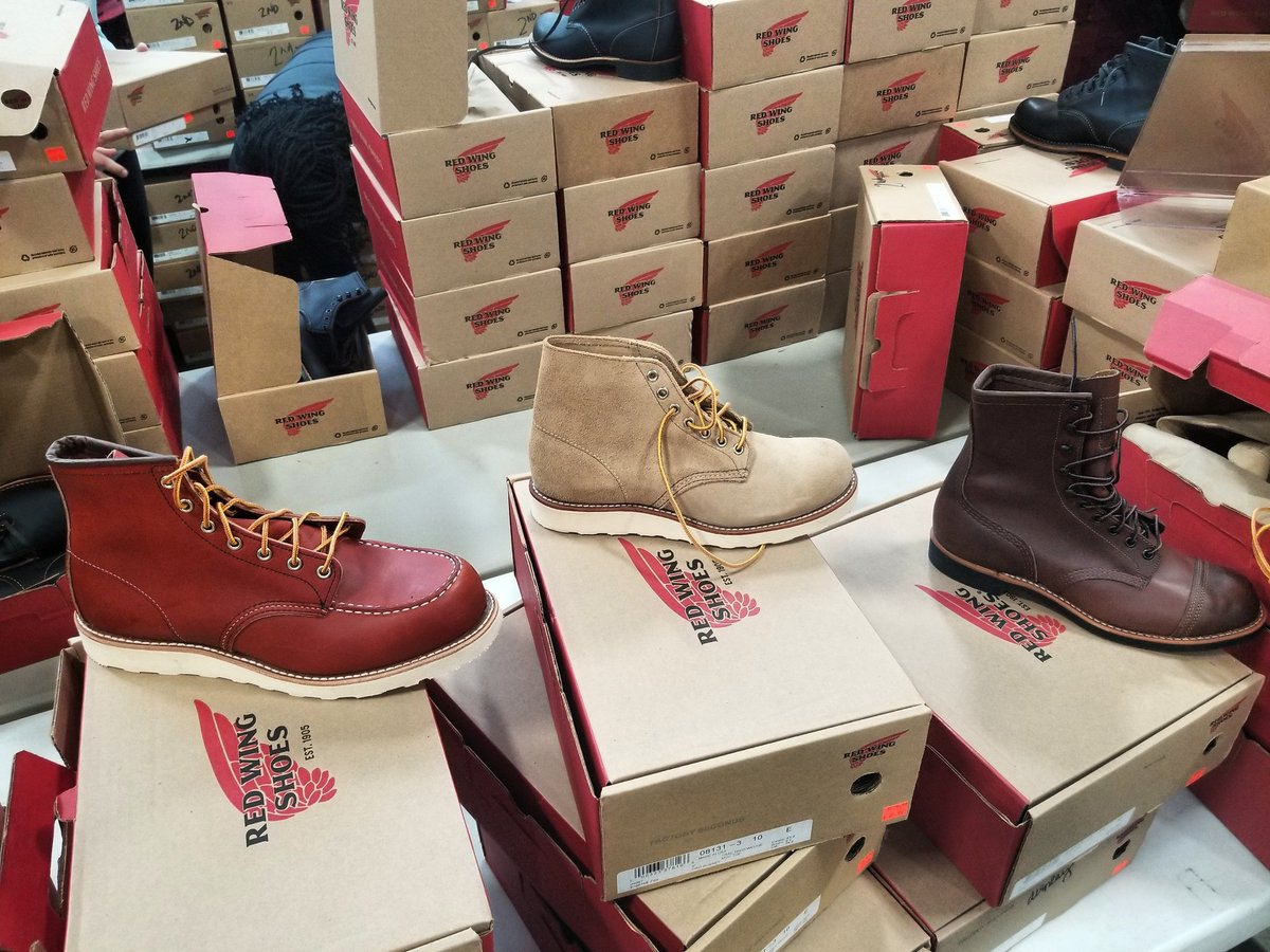 red wing shoe factory sale