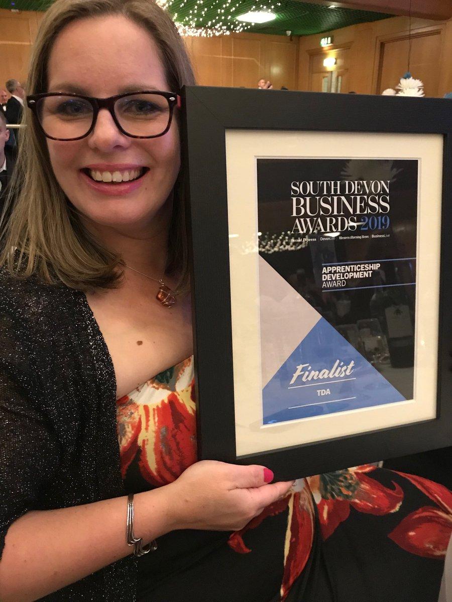 Thank you, @TorbayTDA finalist! Congratulations to well deserved winners @EffectPhotonics #sdba19 thanks to partners @sdcollege @EmTuckerSDC @TorbayBusiness @Reynolds20Steve @DCTrainingNet @FlipflopRobbie @HotswskillsC @SW_YAAN