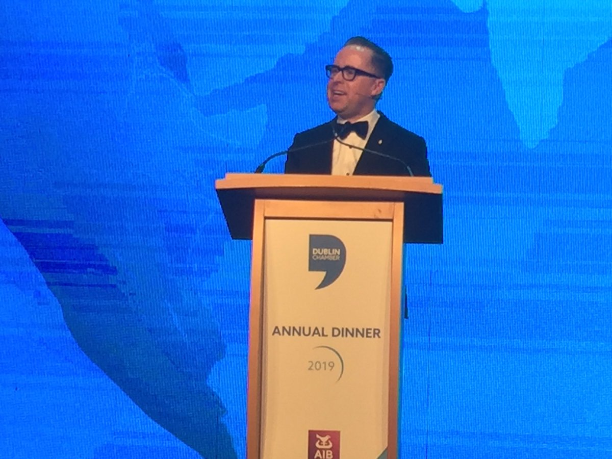 Congratulations to @NiallGibbons and @DubCham on #ChamberAD19. Superb address by Alan Joyce @Qantas