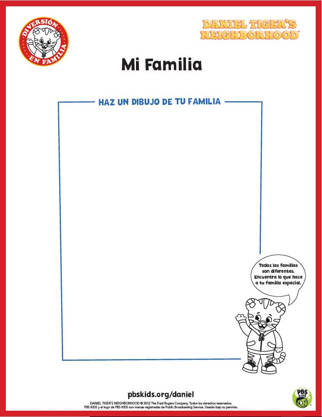 Daniel Tiger On Twitter Grr Ific Your Creative Little Tigers Can Use These Activity Sheets To Draw Their Families Make Sure To Share Their Creations With Us Danieltiger Https T Co Nciz3qqosz