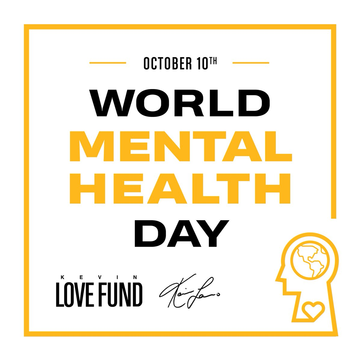 Greatest mystery in the world is what is going on above the shoulders. Lets support each other on that. #JustKeepLivin #WorldMentalHealthDay @jklivinFNDN @kevinlovefund