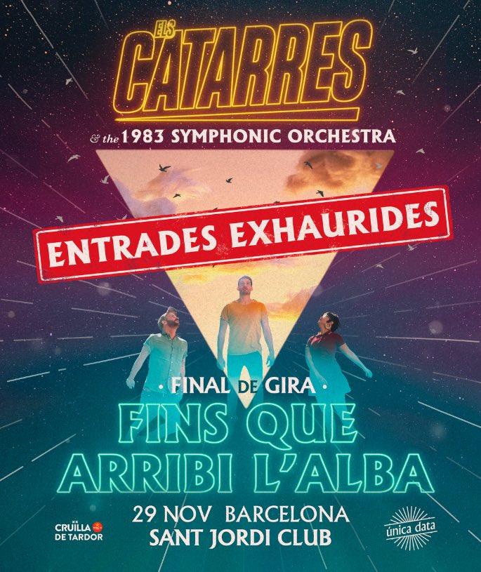❌ENTRADES EXHAURIDES❌ pel FINAL de GIRA al @PalauSantJordi Club de Barcelona!  Serà inoblidable!!! Milers i milers de gràcies!!!😁🤘😘  ❤️@cruillabcn    @exitsmgmt @musicaglobal