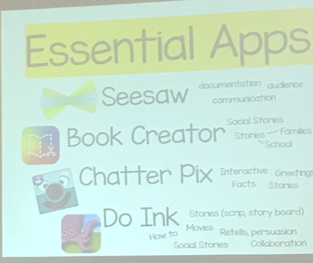 @nicoleconnected and @MissAugustine2 share essential apps and tools to enhance early learning #actem19 https://t.co/41S4OSxgWt