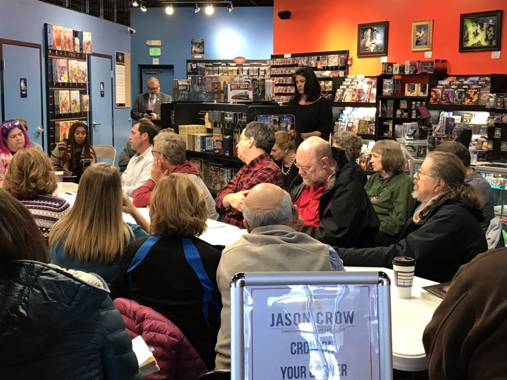 Ok we'll say it: hearing @JasonCrowCO6 quiet passion for the Constitution & honoring the oaths of office always brings unexpected tears to our eyes. #coffeewithcrow @IndivisibleHRCO
