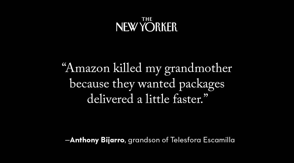 In December 2016, a contractor rushing to deliver packages flew through a crosswalk, hitting Telesfora Escamilla, an 84-year-old woman walking home from a hair salon. nyer.cm/84pR97Q