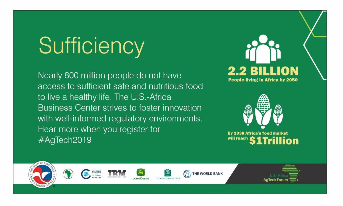 test Twitter Media - Nearly 800 million people do not have access to sufficient safe and nutritious food to live a healthy life. @USChamberAfrica strives to foster innovation with well-informed regulatory environments. Hear more when you register for #AgTech2019 in less than 1 week! https://t.co/K50wpGJtZD