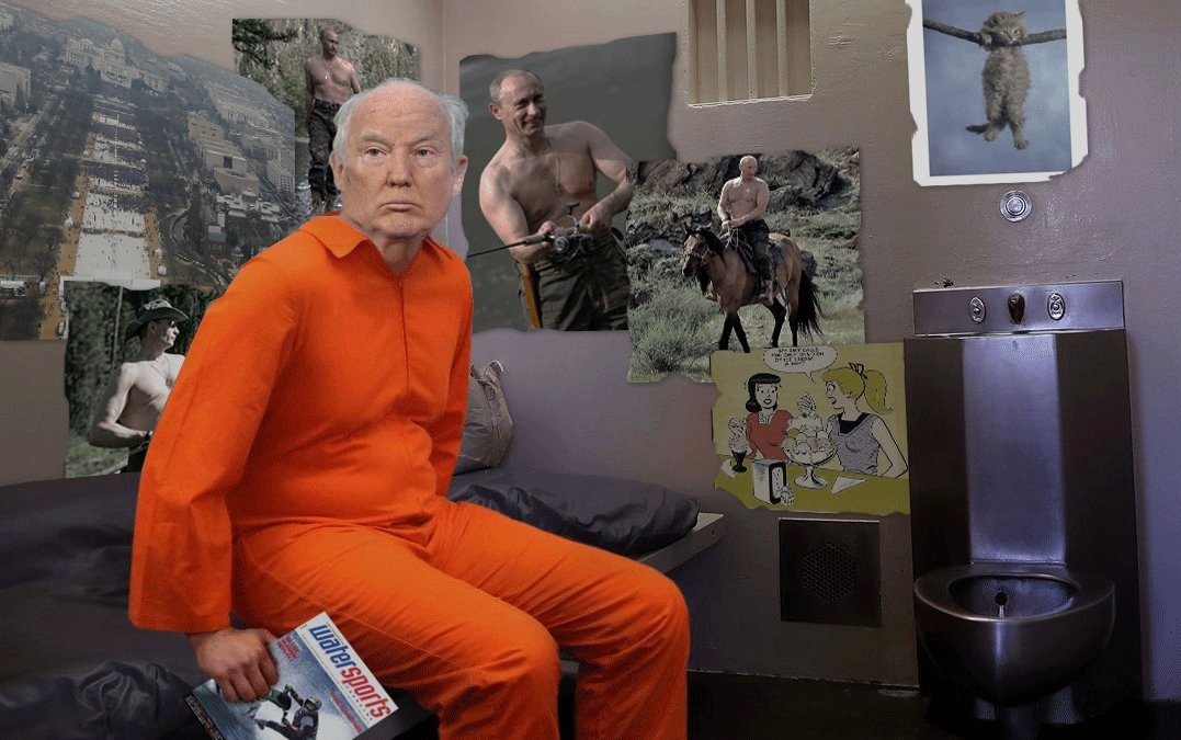 #cursedonaldtrump: May you get adjoining cells with Boris de Pfeffel Johnson! #LockHimUp