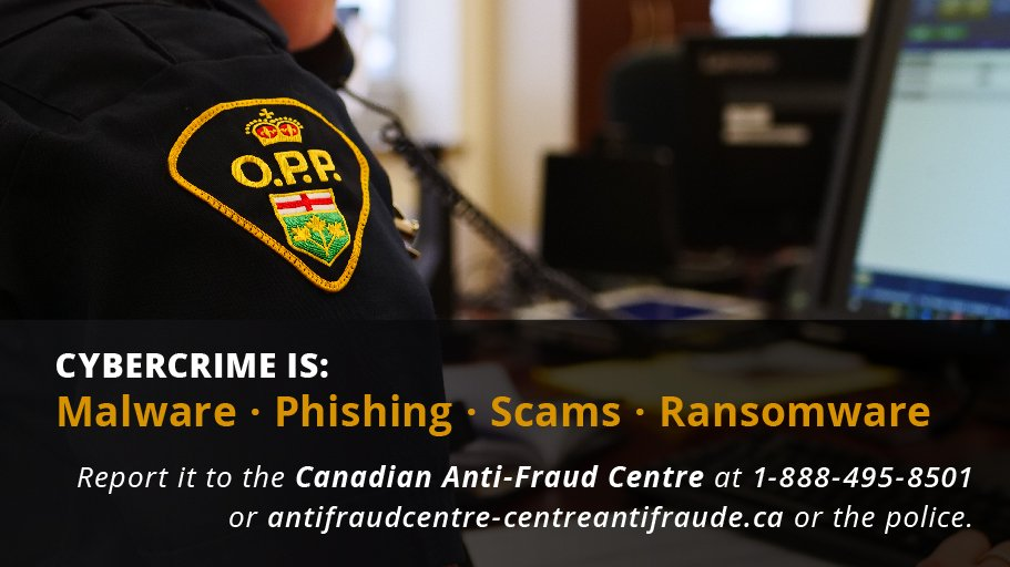 Ontario Provincial Police On Twitter Millions Of Dollars Lost In Ontario To Cybercrime In 2019 What Does Cybercrime Look Like Visit Https T Co J4oy9wamfq And Be Cyberaware Https T Co Vaezytybit