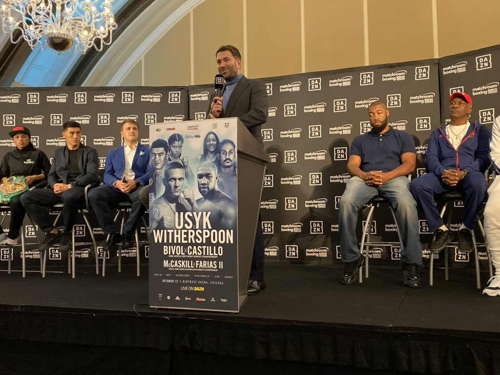 Posted in Chicago for the Usyk vs Witherspoon Press Conference! It's going down on Saturday Night 💥🥊