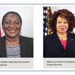 #FridayReads - Have you met GSA's new Procurement Ombudsman, Maria Swaby, and GSA's first AbilityOne Program Executive, Millisa Gary? Read more about them: https://t.co/VOIWaWKima #FAS