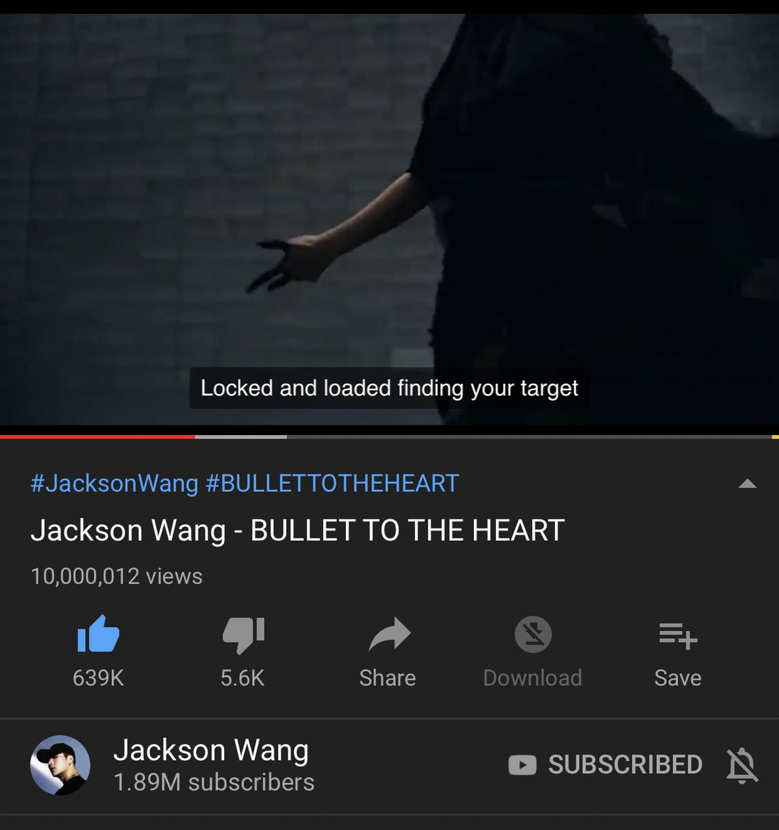 Wheeeeeee. 10 M views!!!  Congratulations  @JacksonWang852 #JacksonWang1stAlbum #BULLETTOTHEHEART #JacksonWang #Mirrors<br>http://pic.twitter.com/HUnXenUmpM