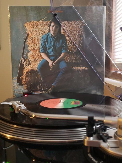 John Prine - s/t (1971). \78 reissue. Happy birthday to a legend.